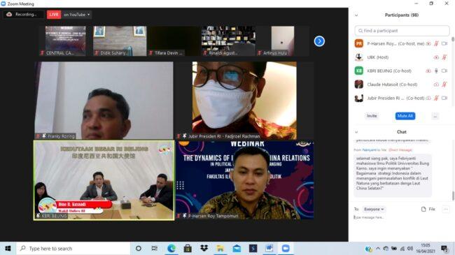 Fadjroel Rachman Jadi Pembicara Webinar Dinamika Hubungan Diplomatik Indonesia-Tiongkok 113