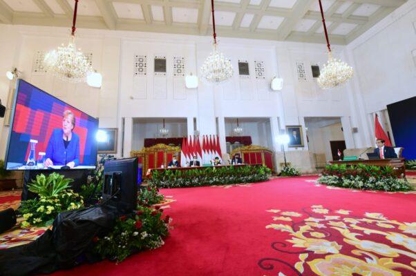 Presiden RI Jokowi dan Kanselir Jerman Angela Merkel Buka Hannover Messe 2021 113