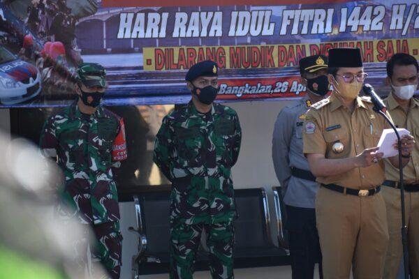 Jelang Lebaran, Polres Bangkalan Gelar Apel Kesiapan Larangan Mudik 1442 H 113
