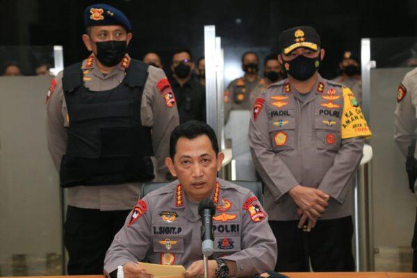 Kapolri Ungkap Kronologi Penyerangan di Mabes Polri 113