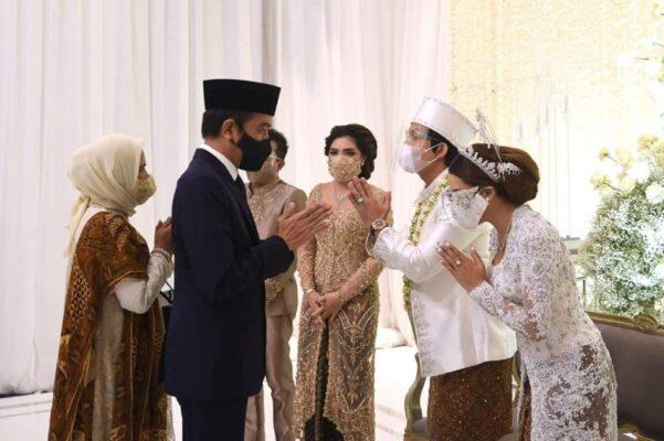 Presiden Joko Widodo dan Ibu Negara Iriana Hadiri Akad Nikah Aurel dan Atta 114