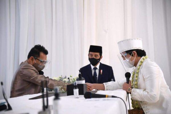 Presiden Joko Widodo dan Ibu Negara Iriana Hadiri Akad Nikah Aurel dan Atta 113