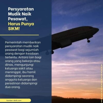 Syarat Mudik Menggunakan Pesawat Harus Punya SIKM 113