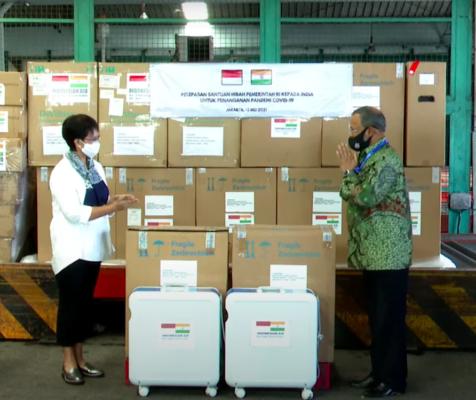 Indonesia Kirimkan Bantuan Hibah Penanganan Pandemi COVID-19 ke India 113