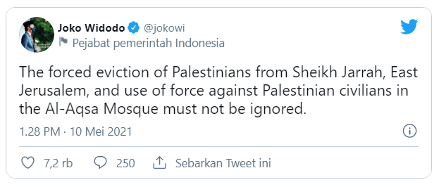 Presiden Jokowi Kecam Aksi Pengusiran dan Kekerasan Israel terhadap Warga Palestina 114