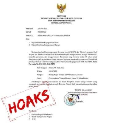 Kementerian PANRB Imbau Masyarakat Waspadai Beredarnya Surat Palsu Pengangkatan Honorer 113