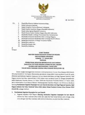 Menteri PANRB Keluarkan Peraturan Terbaru Pembatasan Mobilitas dan Cuti Bagi ASN 114